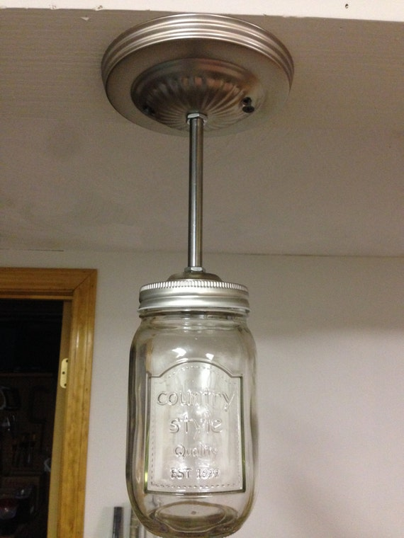 mason jar bathroom light fixture items similar to jar ceiling fixture home decor 23747