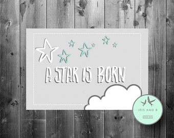 A star is born personalised print