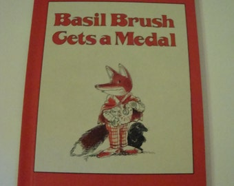 Basil Brush Gets A Medal By Peter Firmin 1973 Vintage Hardcover Children's Books