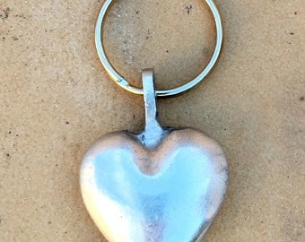 element13 - Solid Aluminum Heart Keychain - Made from Recycled Aluminum