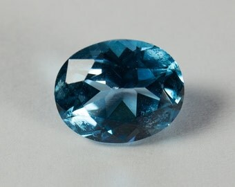 Natural London Blue Topaz, Oval Mixed Cut, 3.26ct