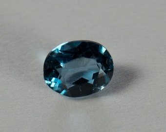 Natural Light London Blue Topaz, Oval Mixed Cut, 0.42ct