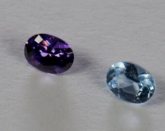 Synthetic Spinels, Oval Mixed Cut, 0.45ct Total Weight