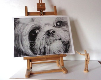Shih Tzu Dog Artwork Print A3