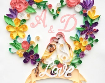 Quilling Wedding gift wall Decor