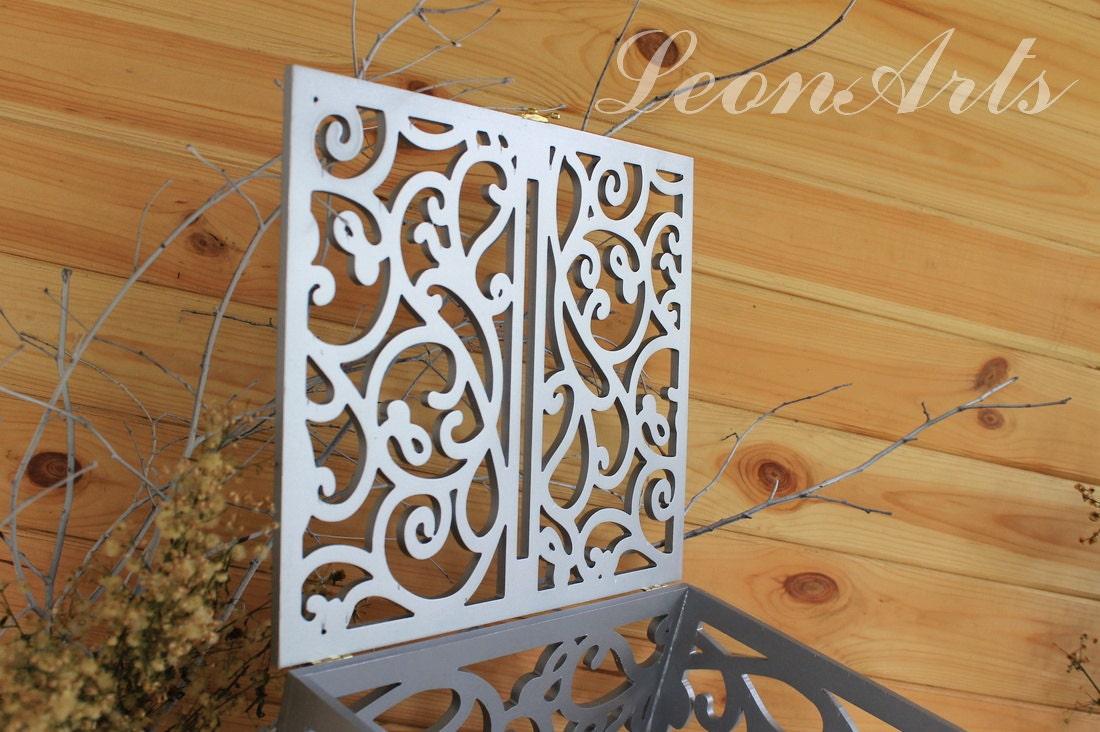 Silver Wedding Card Box Big Size Wedding Gift Plywood Keepsake Box