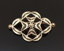 Lovely Vintage Sterling Silver Filigree Brooch, With A Maltese Cross Design
