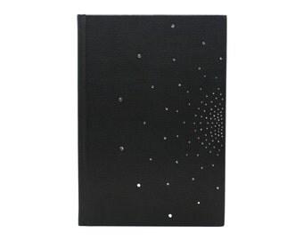 Book Golden handmade black leather