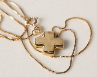 Gold cross with chain