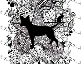 coloring pages of rat terriers - photo#28
