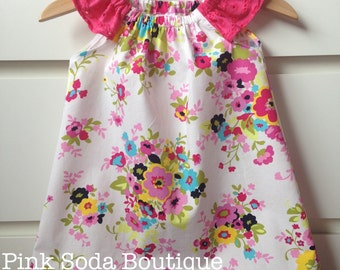 Baby and girls flutter sleeve dress size 1