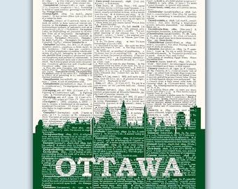 Ottawa Skyline, Ottawa Poster, Ottawa Decor, Ottawa Print, Ottawa Wall Art, Ottawa Gift, Ottawa Wall Decor, Ottawa Canada,Ottawa Skyline Art