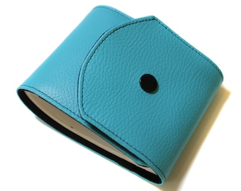 turquoise checkbook leatherette