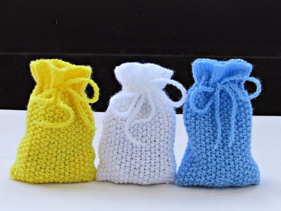 Knitted Wedding Gifts: Wedding Favor Bags Party Gift Bags Knitted Favor Bags