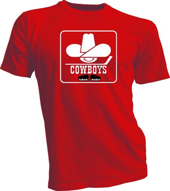 calgary cowboys defunct wha hockey vintage style by