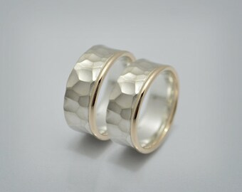 "Silver / Gold partner rings / wedding rings ""Forever"""