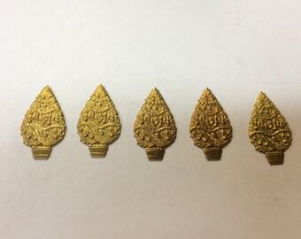 Brass Stamping - Christmas Tree - Set of 5