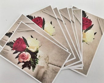 10 thank you cards / greeting cards / invitations with 10 envelopes