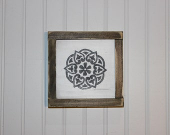 Mandala Wood Sign, Modern Wall Decor, Living Room Decor, Bedroom Decor