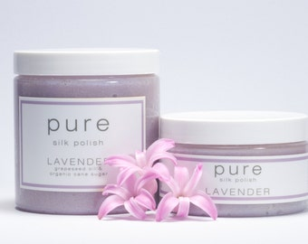 PURE Lavender  Silk  Polish | Sugar Scrub Collection