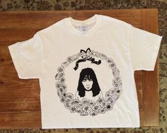 Bjork Silkscreen Printed T-Shirt