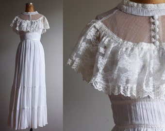 1970s Gunne Sax Wedding Dress