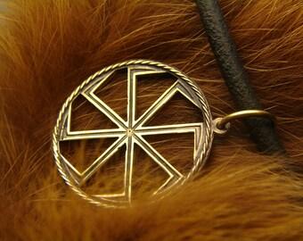 Kolovrat Slavic Pendant, Slavic Symbol, Pagan Jewelry, Norse jewelry, Kolovrat Pendant, norse jewelry, Kolovrat amulet,sun symbol, sun wheel