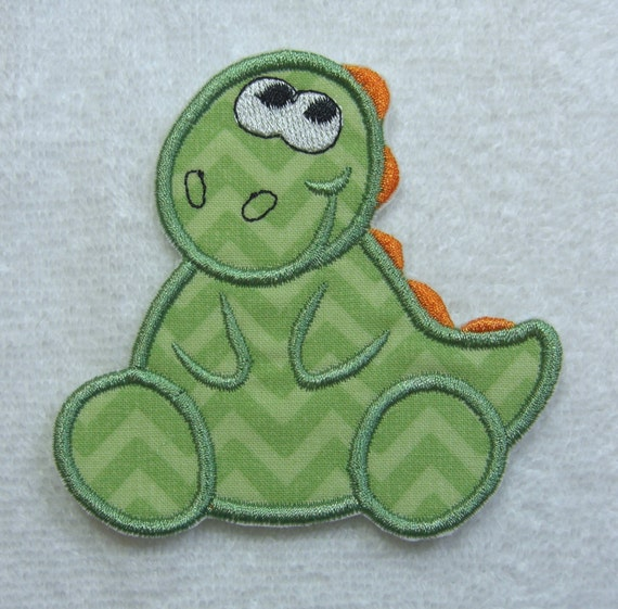 Baby dinosaur patch embroidered fabric dinosaur iron on for Baby dinosaur fabric
