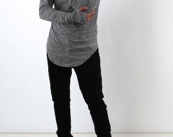Grey Long Sleeves with thumb holes TShirt