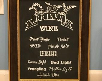 Drinks Wedding Sign