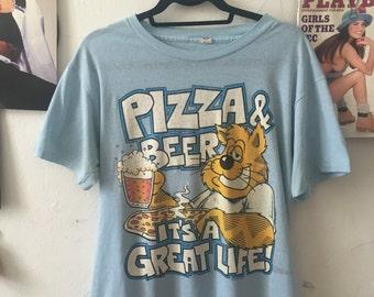 Vintage Pizza & Beer Tee