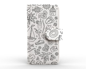 iphone 6 wallet detachable leather wallet for apple iphone 5 5s 5c 6 6s plus summer pattern simple