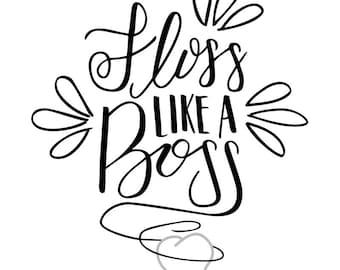 Escape The Bathroom Dental Floss floss like a boss | etsy