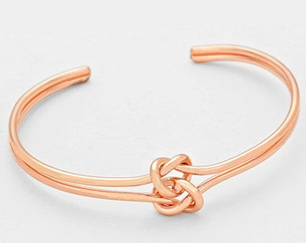 Double Love Knot Cuff Bracelet