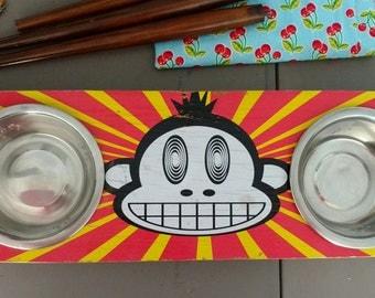 Upcycled Skateboard Pet Dishes