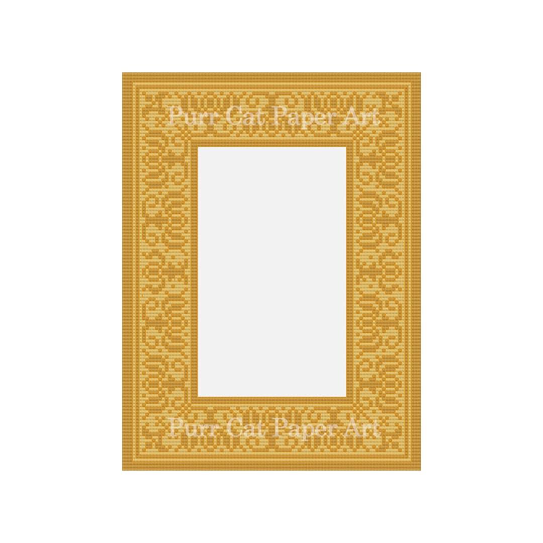 Printed Photo Mat Renaissance In Gold Original Design