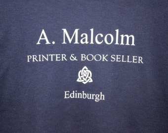 Short Sleeve Outlander T-Shirt, A. Malcolm Printer & book seller, Inspired by Outlander, Short sleeve top, Outlander top
