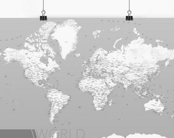 Trendy World Map