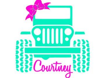 Custom Jeep Decal / Jeep Vinyl Sticker