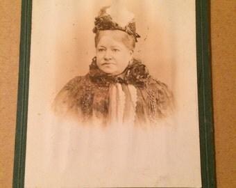 Vintage Carte de visite of a fashionable Victorian lady