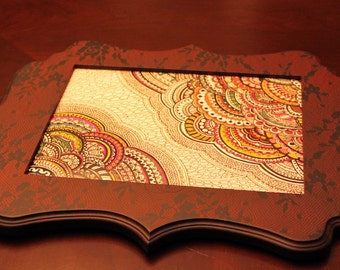 Original Henna Ink Drawing Set in Decorative Picture Frame