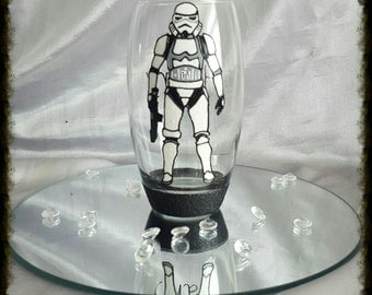 Hand painted Star wars glass
