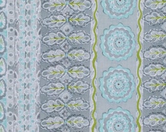 Dena Designs FreeSpirit Cotton Fabric The Painted Garden- Heather in Gray