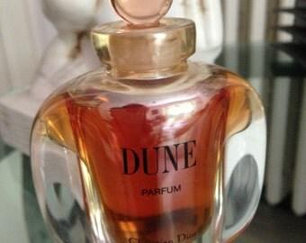 Rare and Hard to find Vintage Dune 1991 by C. Dior pure perfume splash bottle 30ml - 1 OZ.FL