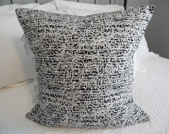 18 x 18 Pillow Cover, black, grey, white, circles, pillow cover geometric.Pillow Covers.Bedroom Covers.SLip Cover.Boy.Girl.Teen Bedroom