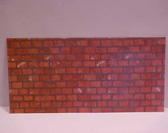 Miniature Machine Laminated Dark Red Brick Garden Fireplace Artisan Made
