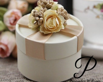 24 floral Candy box wedding / Bridal Shower favors- Gold, Pink, Red, Purple