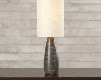 """17"""" Table Lamp with Drum Shade"""