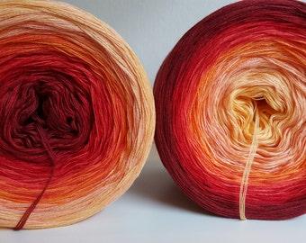 Designer yarn gradient sunset Knitting Crochet handmade