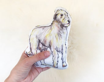 Irish wolfhound dog rattle | hound dog | baby toy | baby rattle | new baby gift |  baby shower | plushie